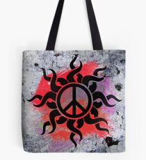 Cool Peace Sign with Paint Tote Bag