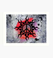 Cool Peace Sign with Paint Art Print