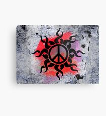 Cool Peace Sign with Paint Metal Print