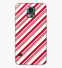 Red Candy Cane Stripes Case/Skin for Samsung Galaxy