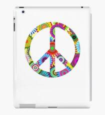 Peace Sign Cool Retro Flowers Design iPad Case/Skin