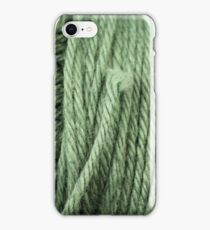 Green Yarn Texture Close Up iPhone Case/Skin