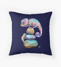Chameleons Throw Pillow