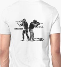 I am the sheep dog. Soldiers Sketch Art T-Shirt