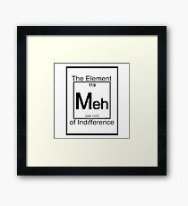 The Element Of Indifference Framed Print