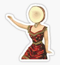Neutral Milk Hotel in the Aeroplane Over the Sea Waving Lady Sticker
