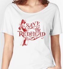 Save the Redhead Caribbean Pirates Shirts Women's Relaxed Fit T-Shirt