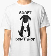 Camiseta clásica Adoptar no comprar