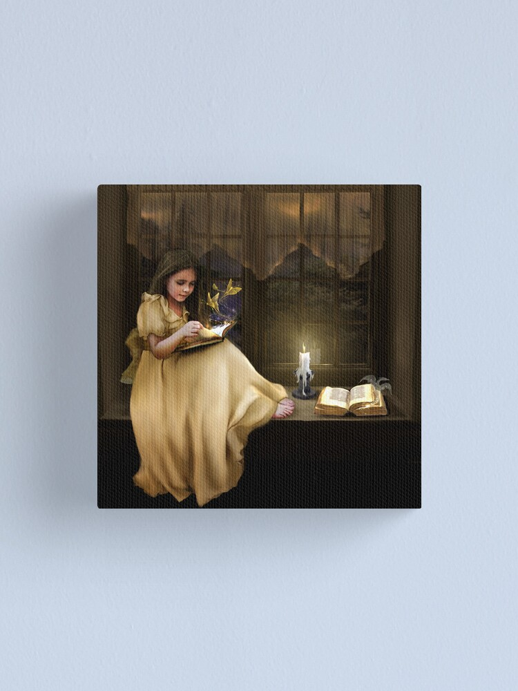 Alternate view of The Magic of Books Canvas Print