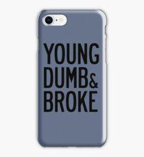 KHALID YOUNG DUMB & BROKE LYRICS iPhone Case/Skin