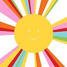 rainbow sun by creativemonsoon
