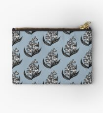 Black and White Flowers Sketch Studio Pouch