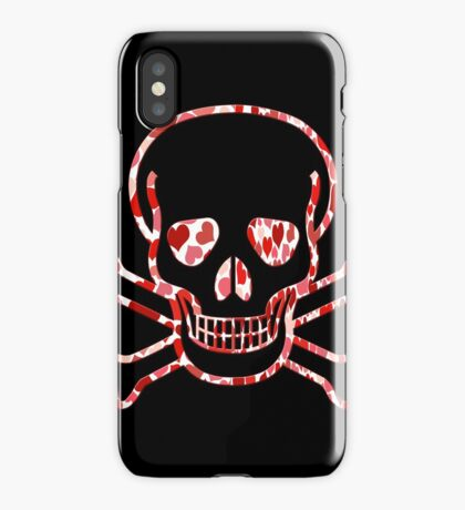 Skull with Hearts - Cool Skull Design iPhone Case/Skin