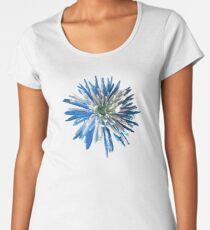 Blue and white chrysanthemum print/t-shirt/case/mug/duvet cover/cushion/tote Women's Premium T-Shirt