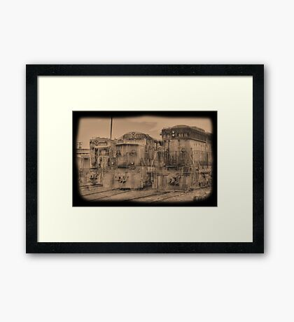out of service Framed Print