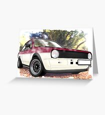 Polo Saloon Greeting Card
