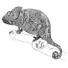 Karma Chameleon Zentangle by DILLIGAF