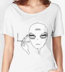 Smoking Alien Women's Relaxed Fit T-Shirt