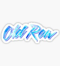 Old Row Blue Tie Dye Sticker