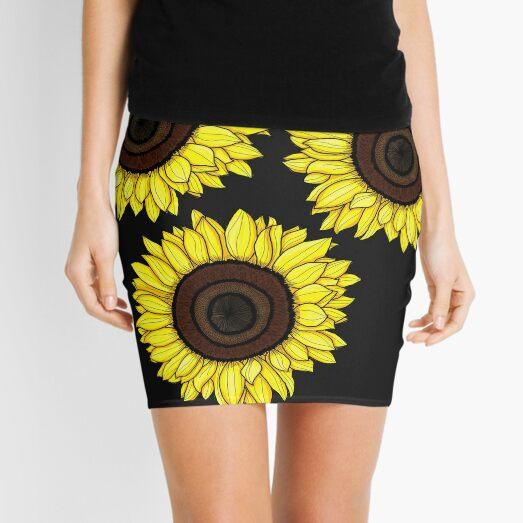"""""""Sunflowers"""" Mini Skirt"""