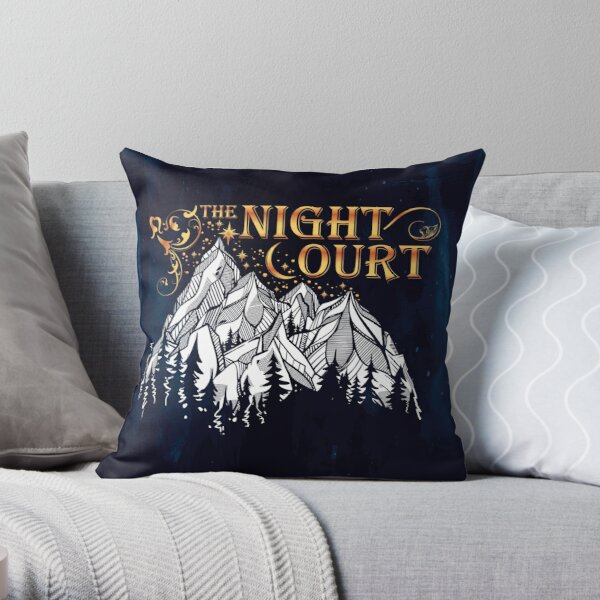 A Court of Wings and Ruin, The Night Court Throw Pillow