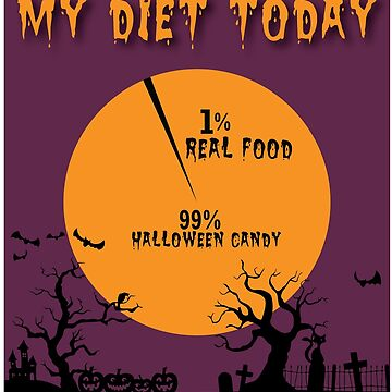 My Diet Today - 1% Real Food 99%  Halloween Candy by ItsMyParty