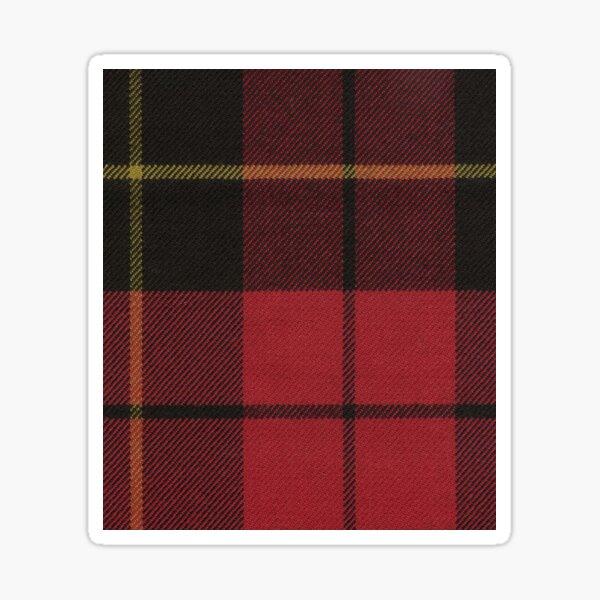 Wallace Red Original Scottish Tartan Sticker