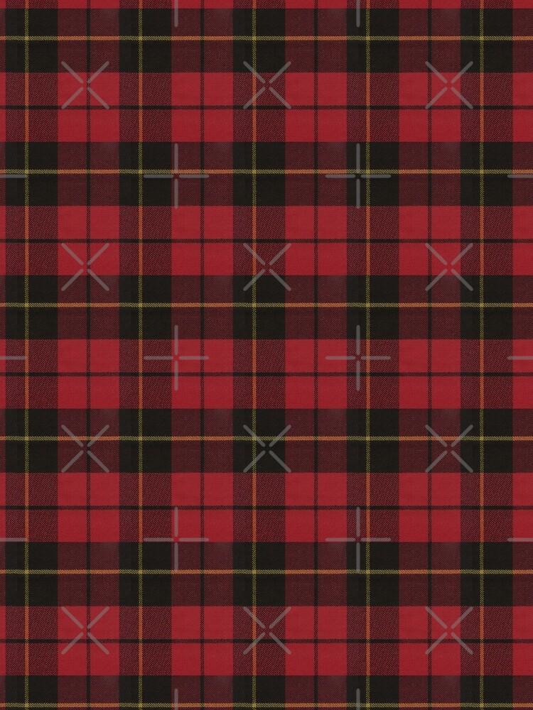 Wallace Red Original Scottish Tartan by DiamondWillow