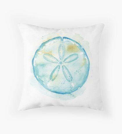 Aqua Sand Dollar Throw Pillow