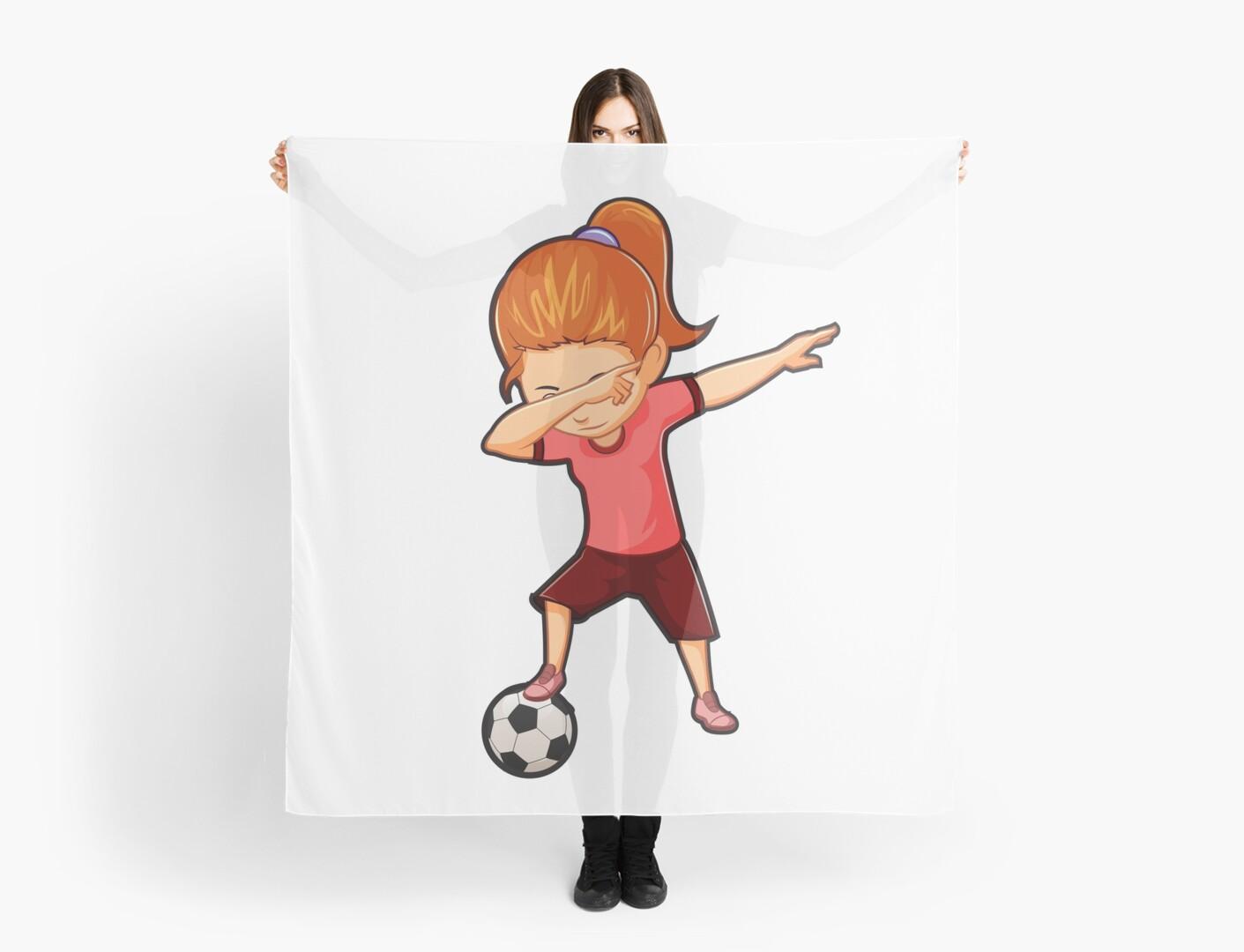 Fußball-Shirt für Mädchen Lustige Tupfen Tanz-Fußball\