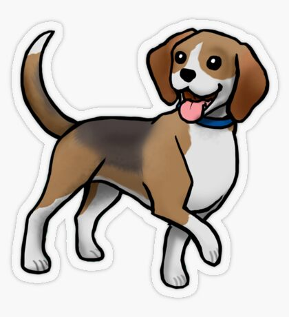 Beagle Transparent Sticker