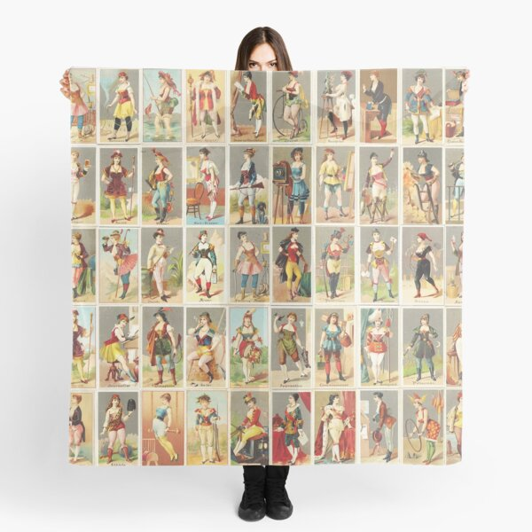 Occupations for Women Series Trading Cards Massive collage! Scarf