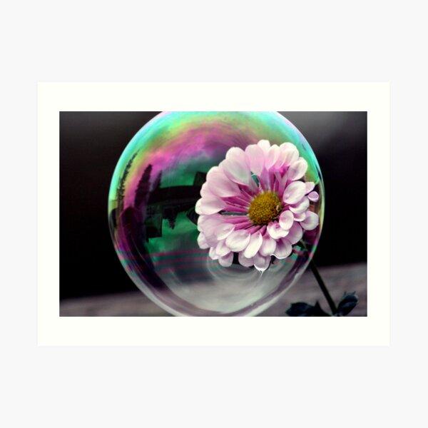 Color flower in a bubble Art Print
