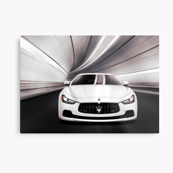 Maserati Ghibli S Q4 luxury car in a tunnel art photo print Metal Print
