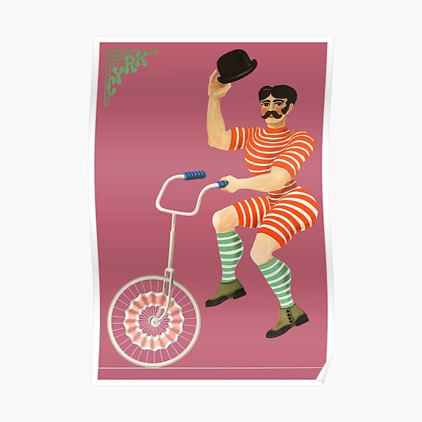 1970 Unicyclist With Bowler Hat Polish Circus Poster Poster