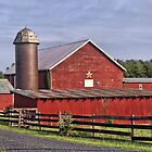 Barn And Silo by James Brotherton