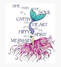 Gypsy Hippy Mermaid  Photographic Print