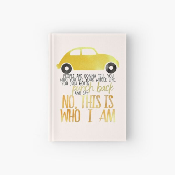 Once Upon A Time Quote - This Is Who I Am Hardcover Journal
