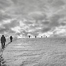 Climbing team on the glacier by Istvan Hernadi