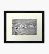 Climbing team on the glacier Framed Print