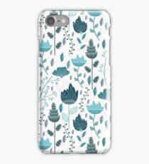 Frozen Flowers Pattern iPhone Case/Skin