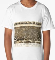 Fort Worth Texas 1886 Lithograph Long T-Shirt