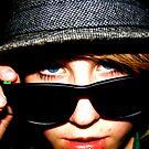 blue eyes black glasses by Danielle  Kay