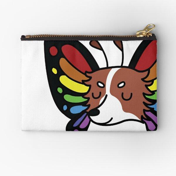Rainbow Butterfly Papillon Zipper Pouch