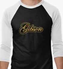Vintage Gibson Gold  Men's Baseball ¾ T-Shirt