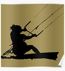 Wakeboarder Water Sport Silhouette Poster