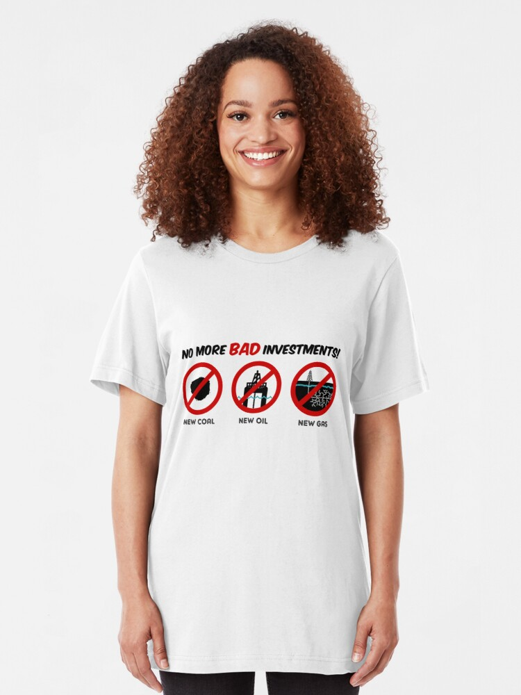 Alternate view of No more bad investments Slim Fit T-Shirt