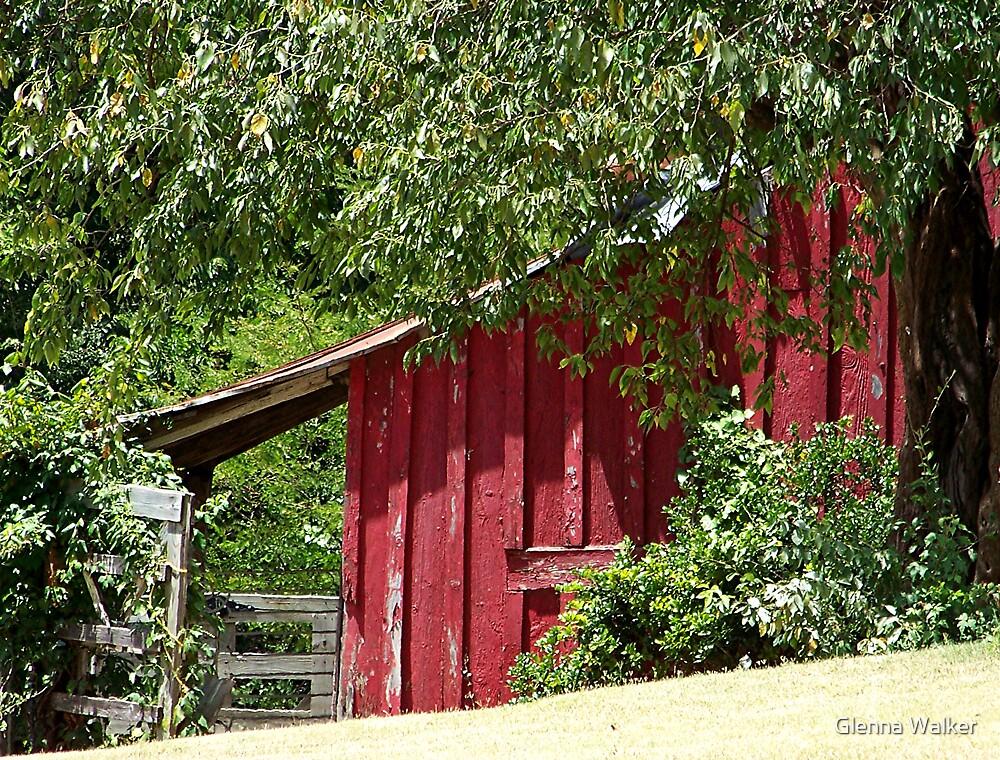 Historic Red Barn by Glenna Walker