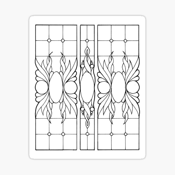 Color your Stained Glass Labels Sticker