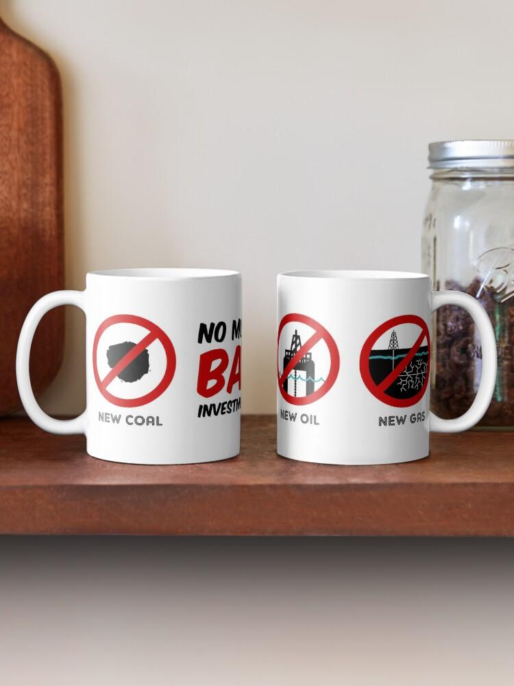 Alternate view of No more bad investments mug Mug